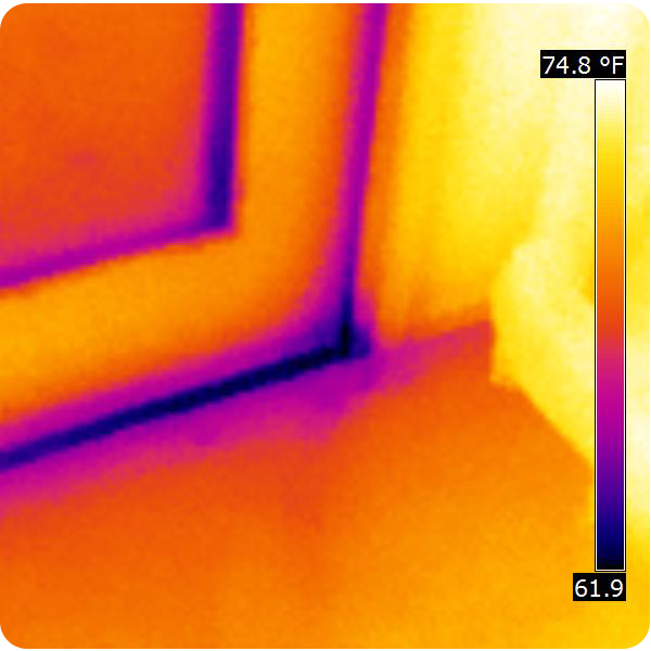 An Infrared Photo like this gives us visual representation of heat loss. Poor construction that performs poorly is common in Oklahoma